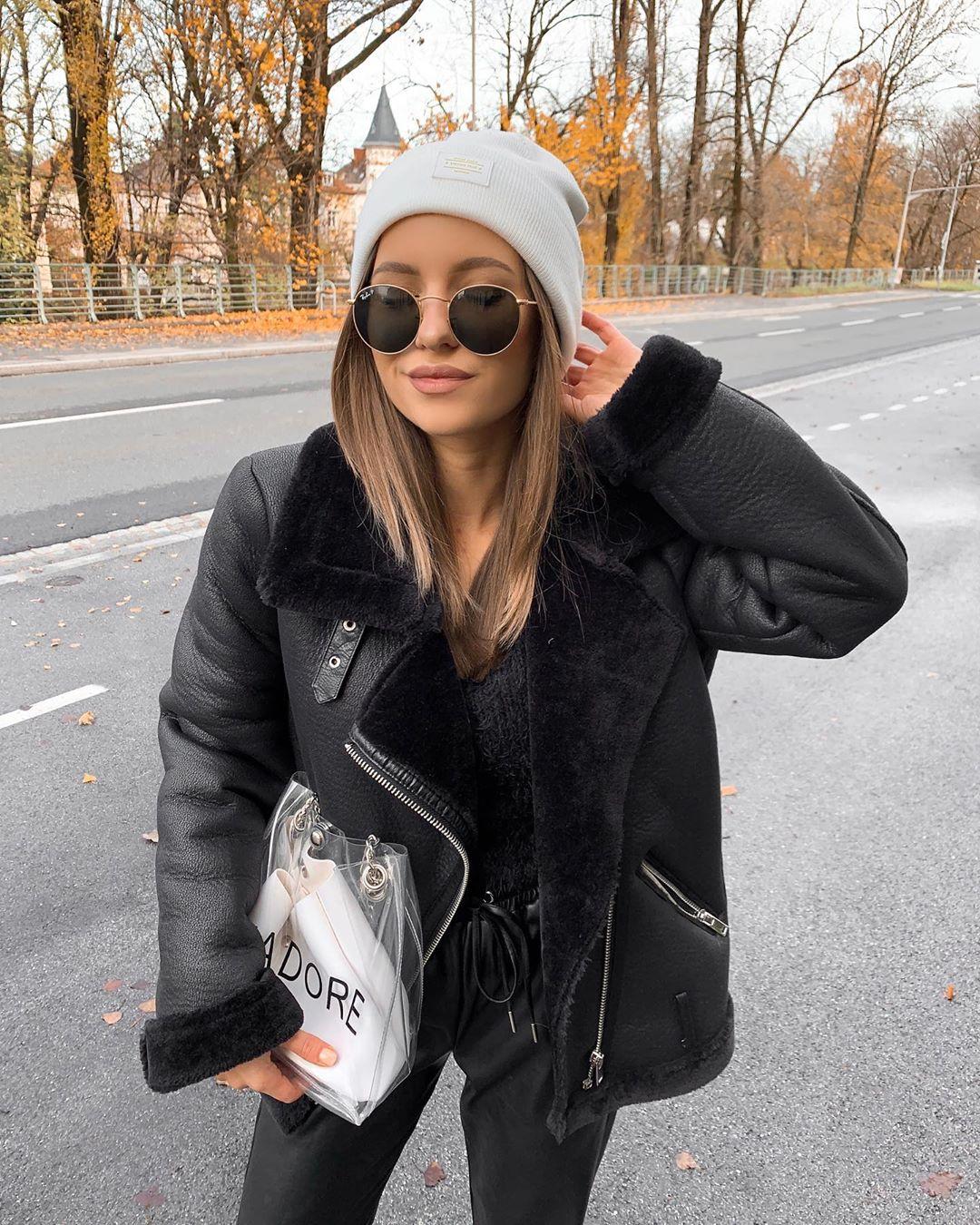 double-sided biker jacket de Zara sur lorenayessir