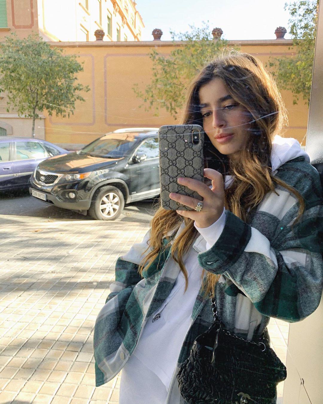 plaid overshirt de Zara sur brunabear
