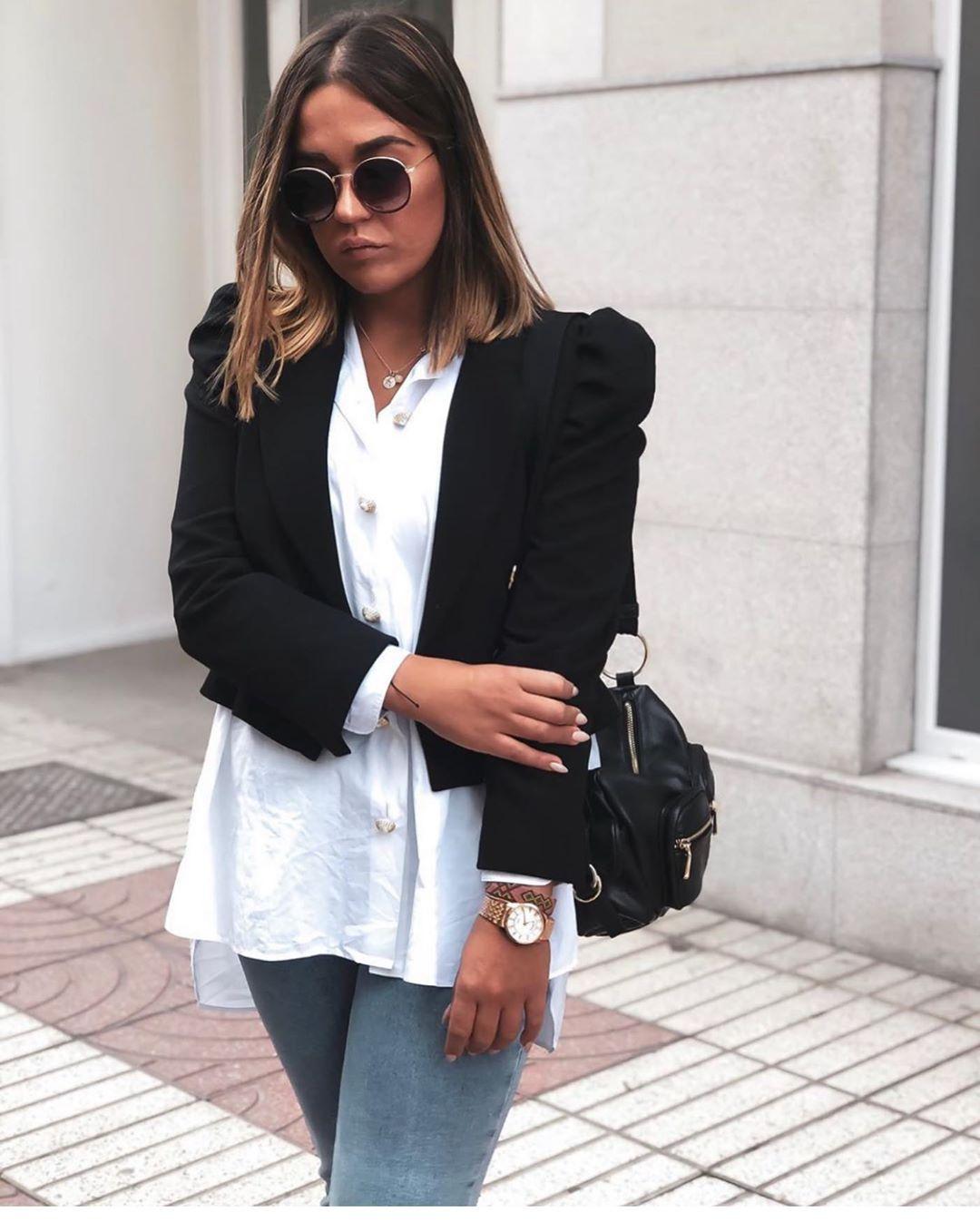 veste à épaules bouffantes de Zara sur zara.outfits
