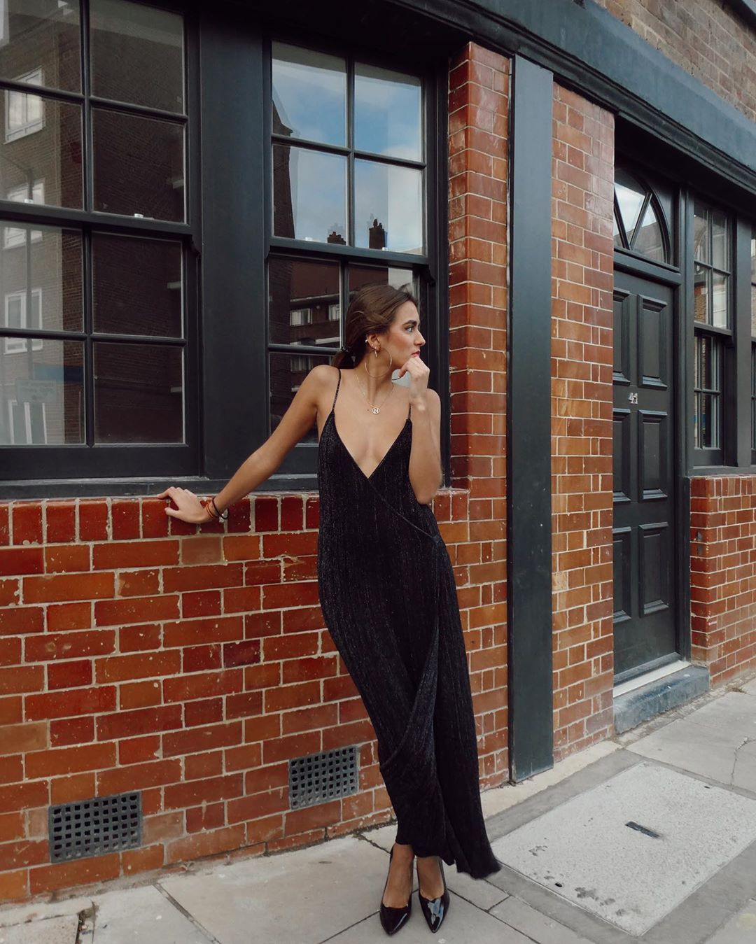 metallic thread dress de Zara sur natichualcantara