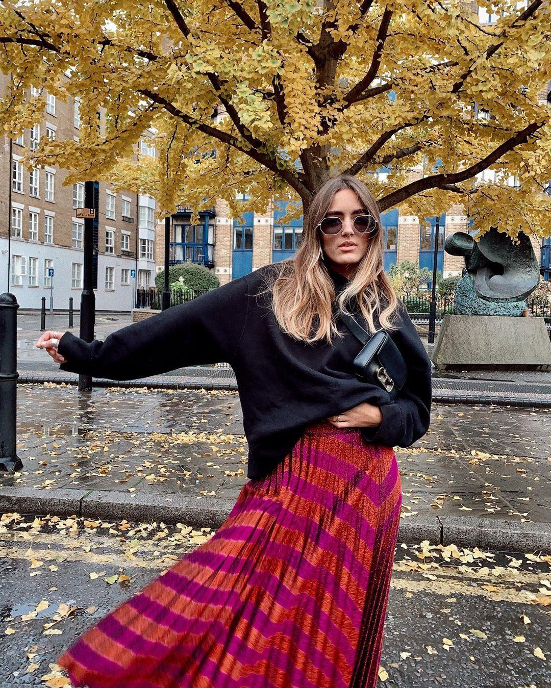 oversized hooded sweatshirt de Zara sur natichualcantara