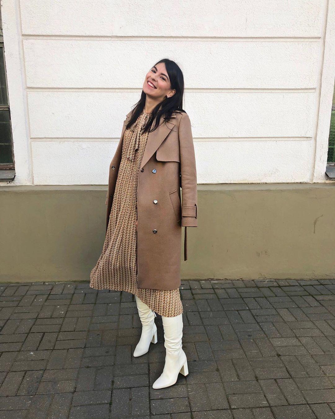 high heeled leather knee high boots de Zara sur katerinazimich