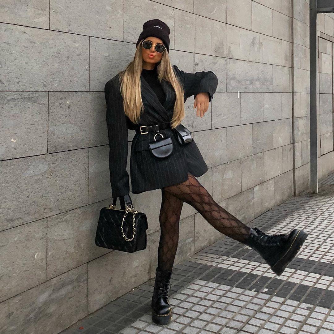 leather belt with coin purse de Zara sur stylebynelli