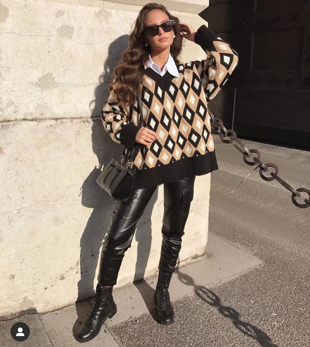 diamond jacquard sweater de Zara sur posh.zara.clothes sur SCANDALOOK