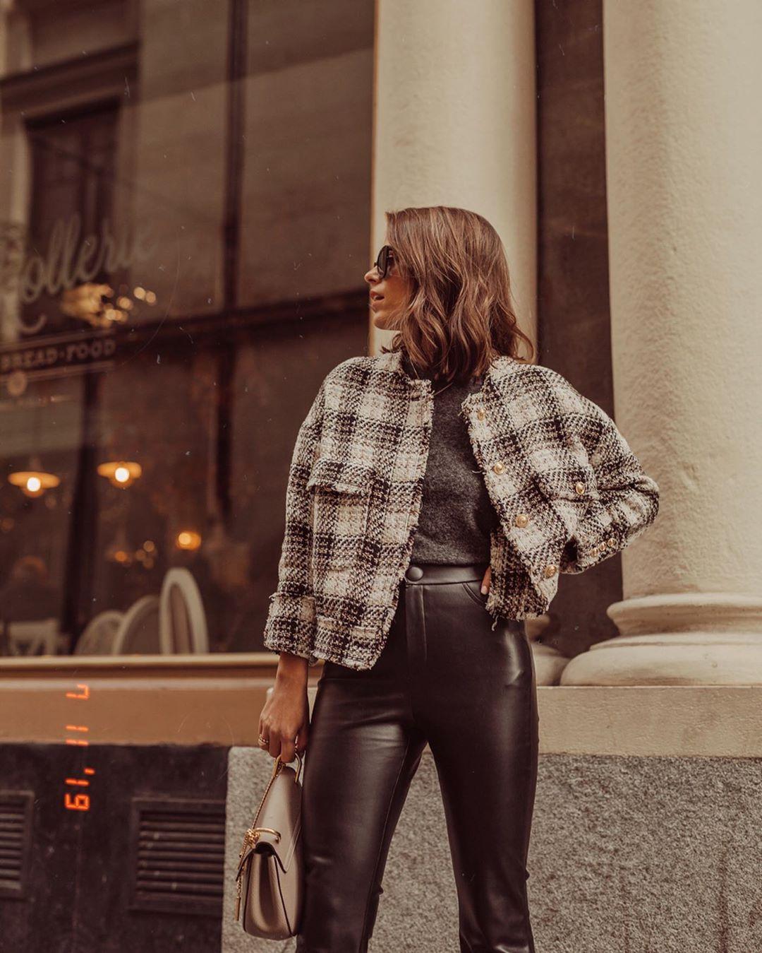 tweed overshirt de Zara sur jessiekass