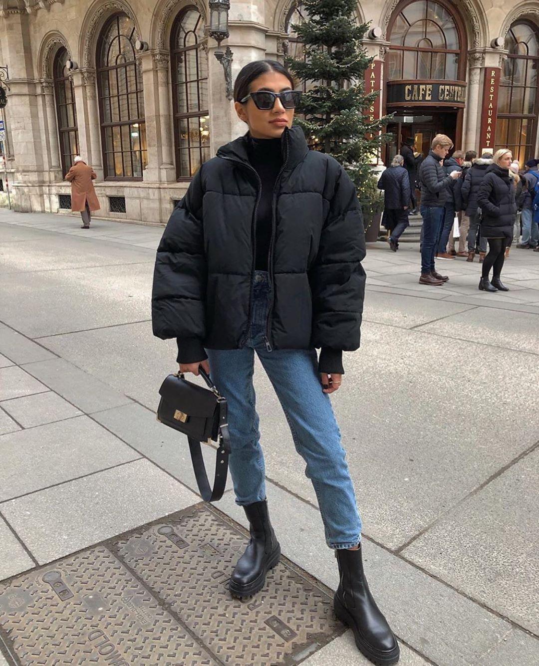 oversize padded jacket de Zara sur zarastreetstyle