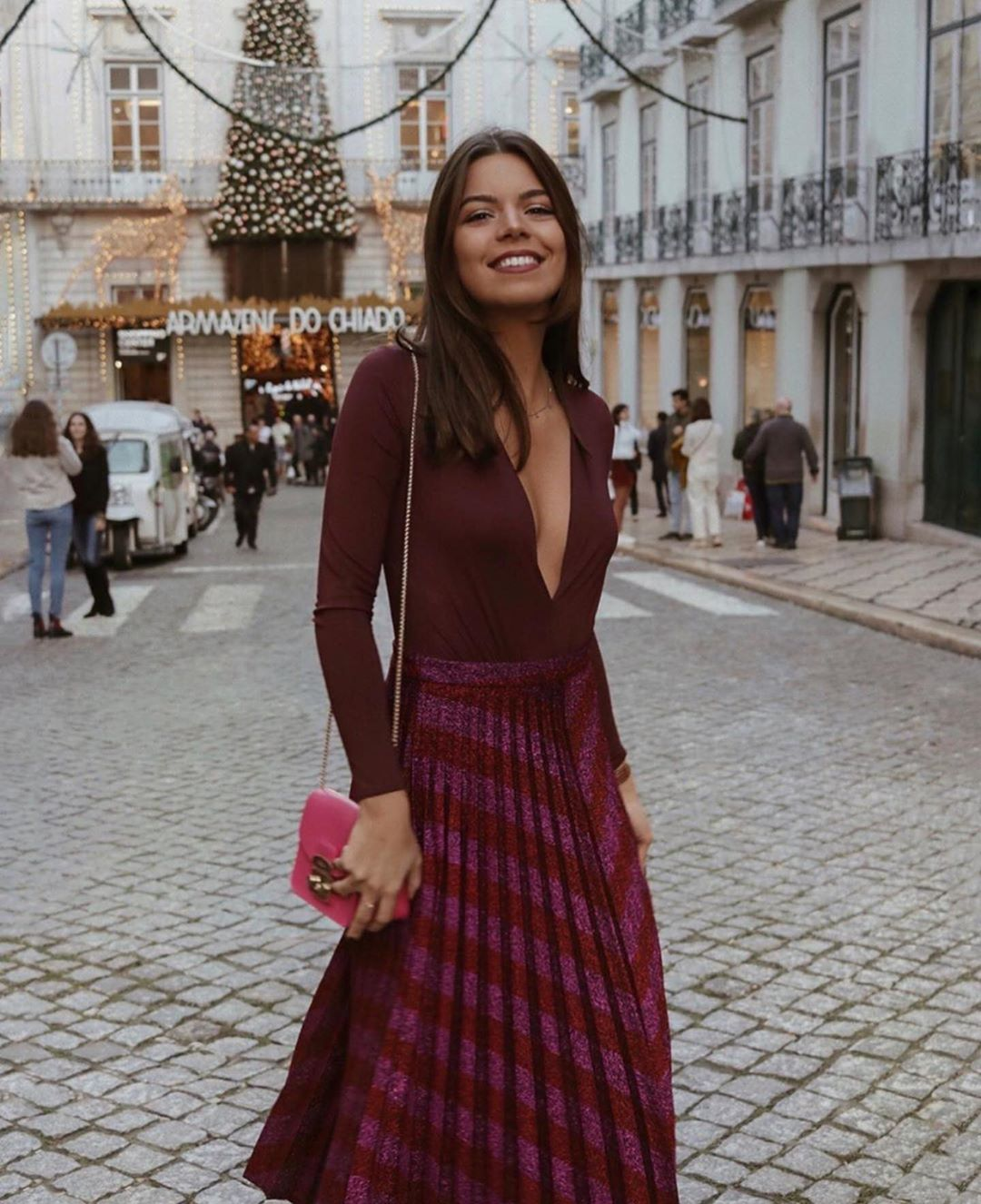 jupe plissée avec fil métallisé de Zara sur zara.outfits