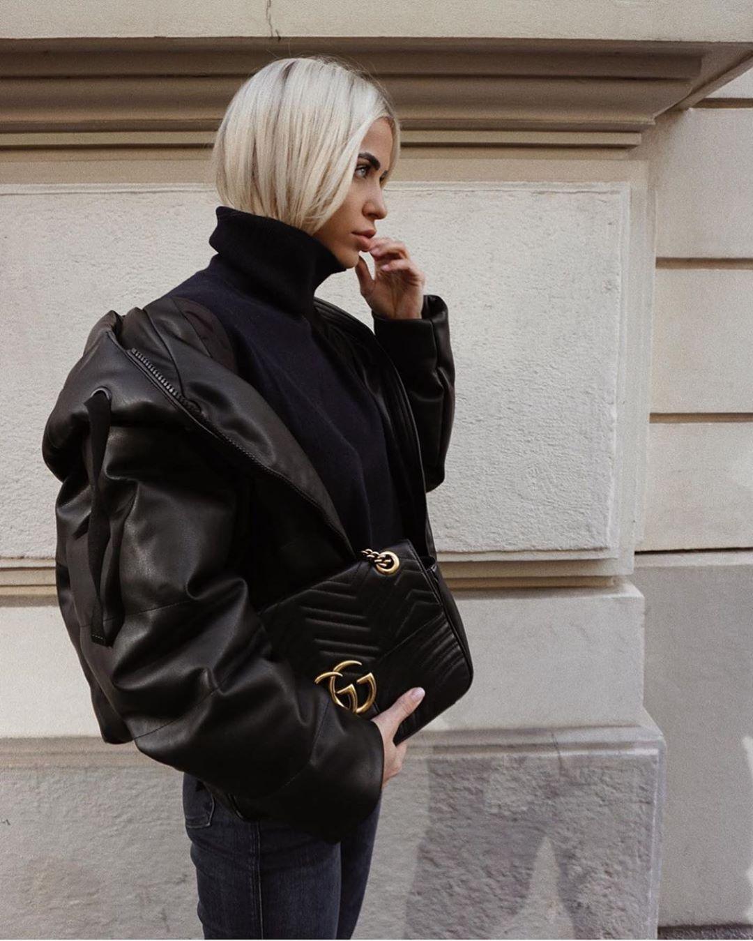80s leather jacket de Zara sur zarastreetstyle