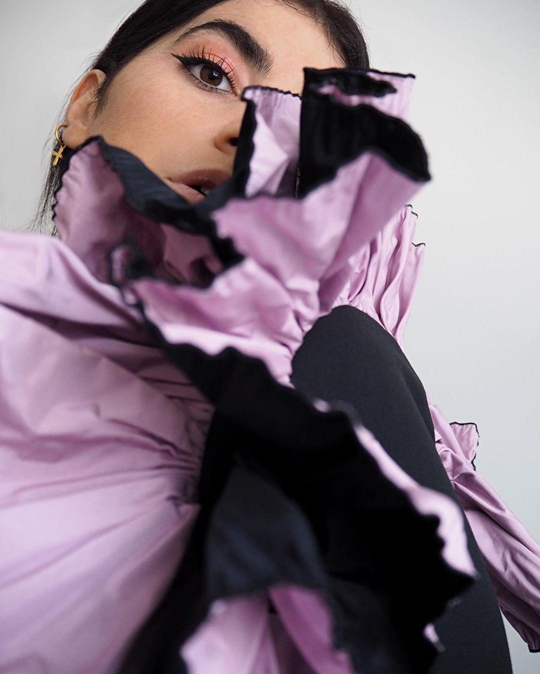 bimaterial shoulder jacket de Zara sur carolinabrunelli_