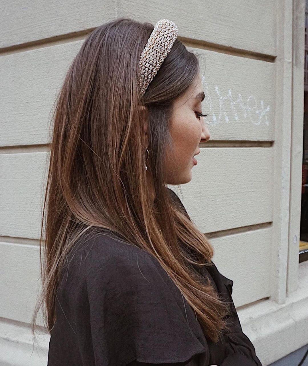 padded headband with rhinestones de Zara sur zaraaddiction
