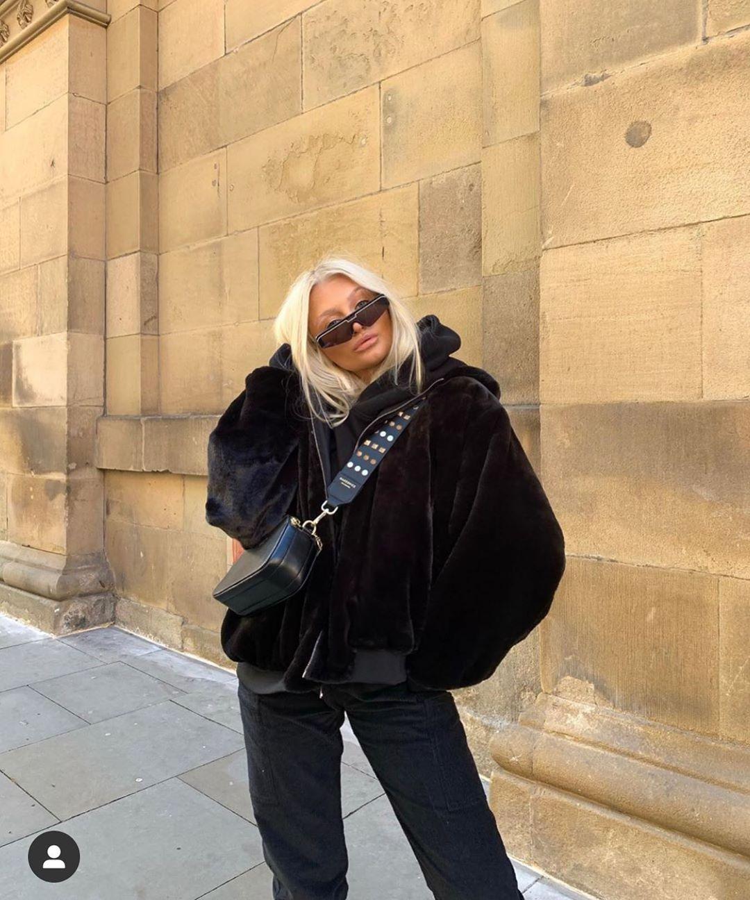 faux fur effect jacket de Zara sur zarastreetstyle