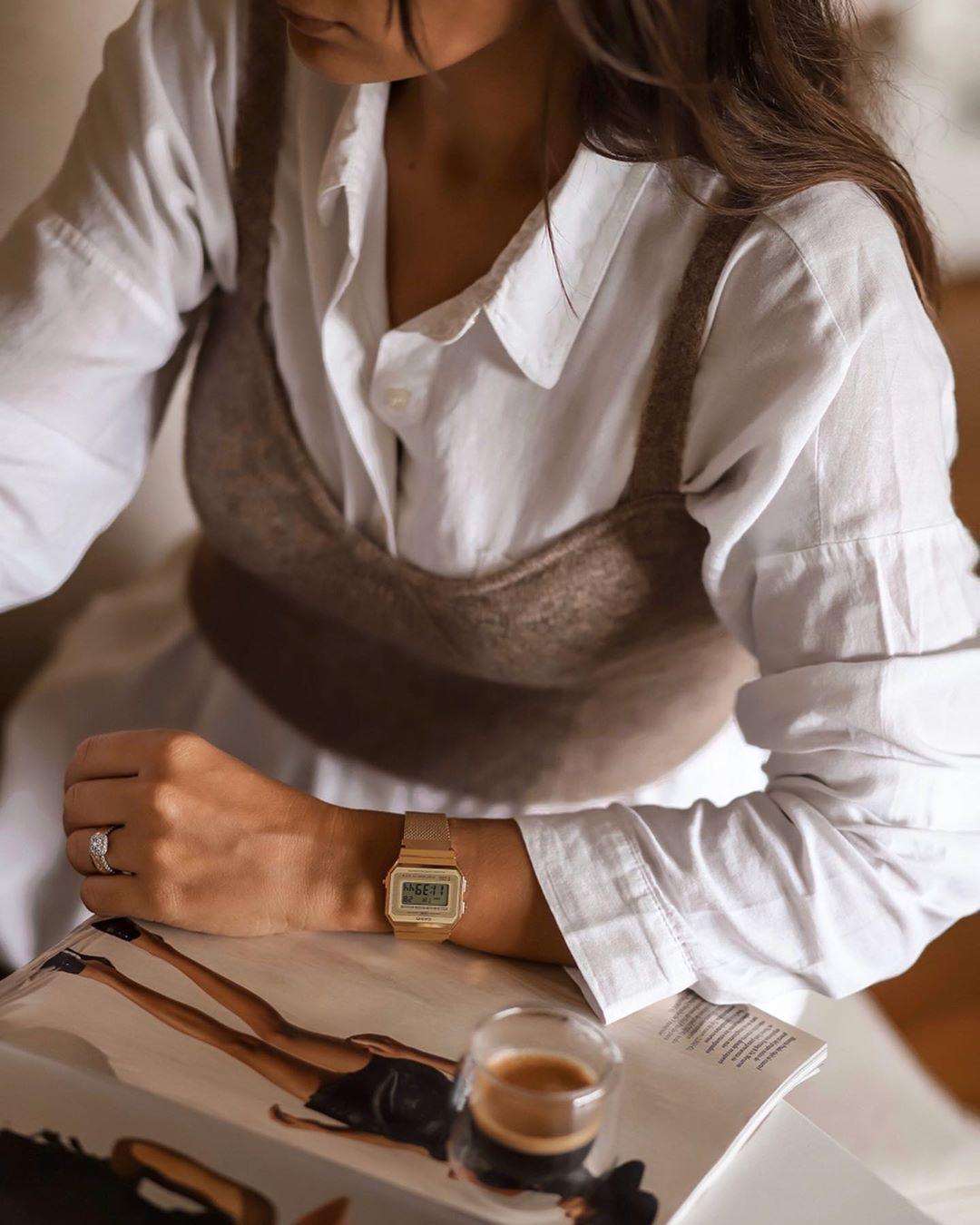 cropped top with wool de Zara sur joanavaz_