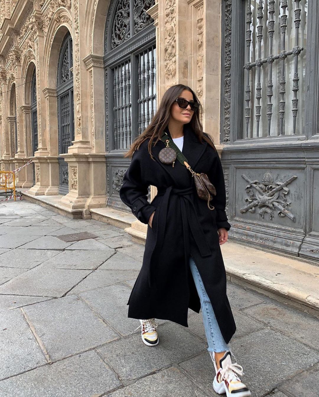 manteau long avec ceinture de Zara sur zara.outfits