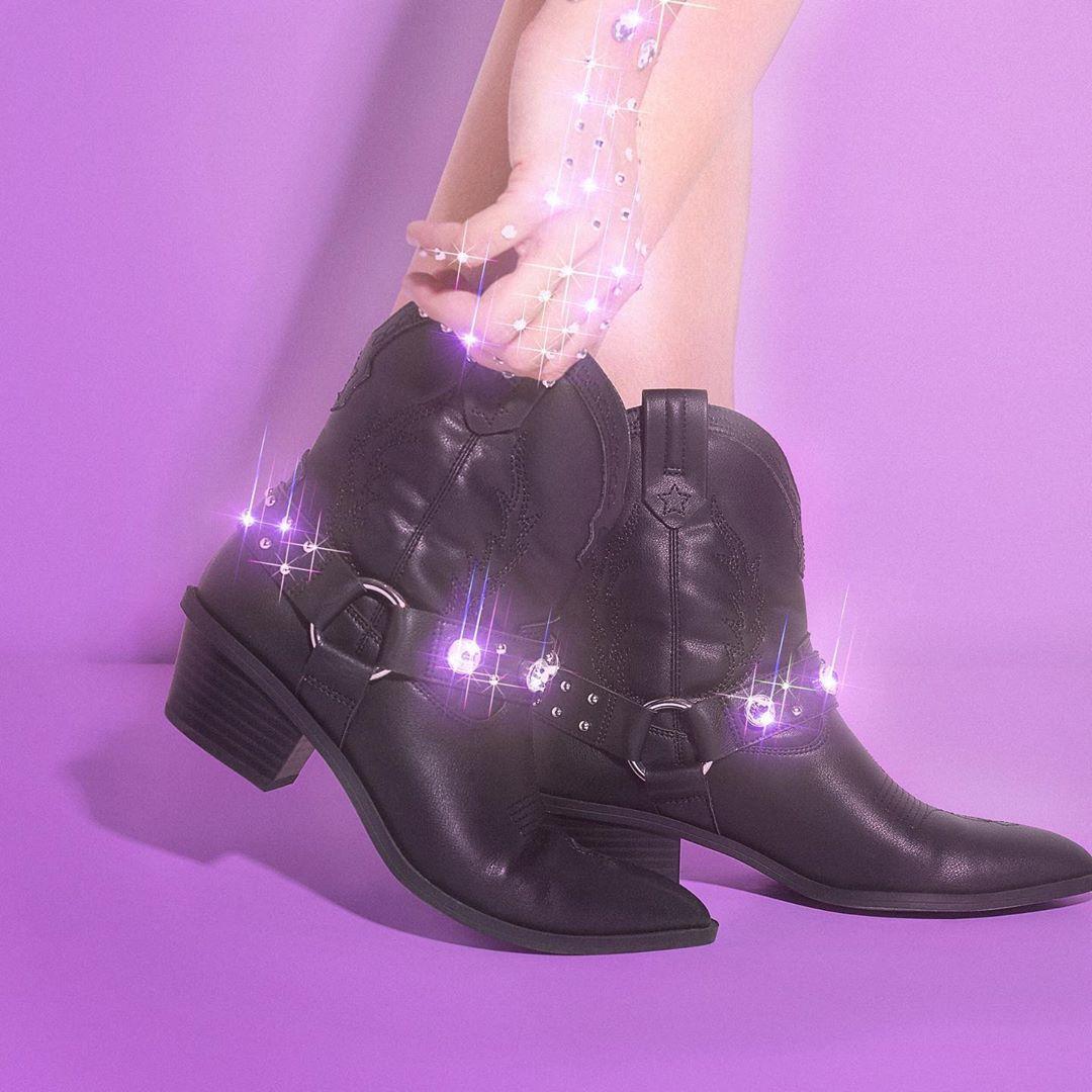 jewel cowboy ankle boots de Bershka sur bershkacollection