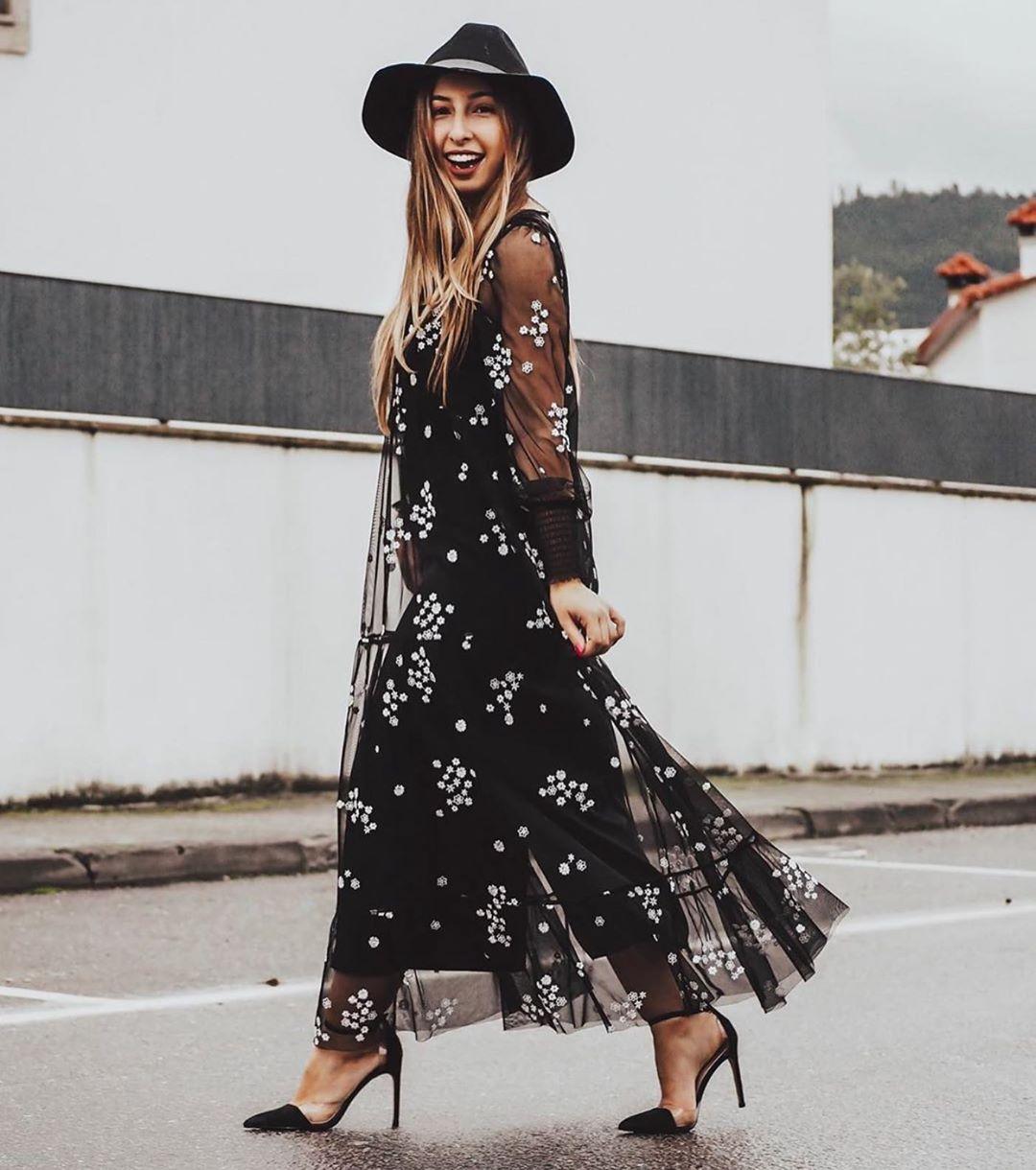 floral embroidered tulle dress de Zara sur zaraaddiction
