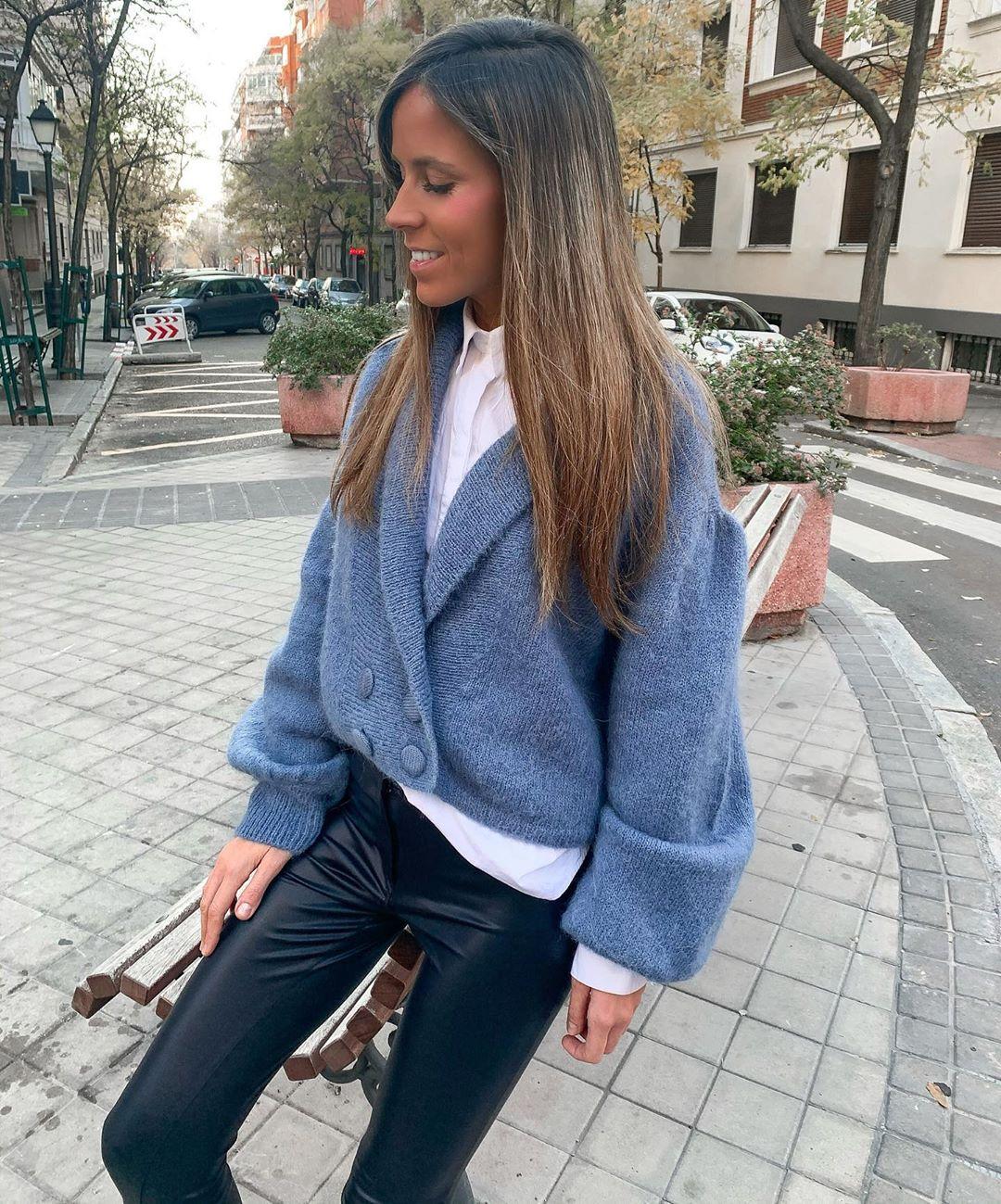alpaca and wool cardigan de Zara sur isa_gme