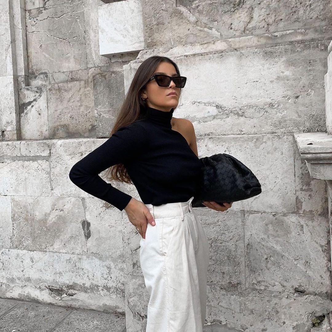 asymmetrical high neck sweater de Zara sur zaraaddiction