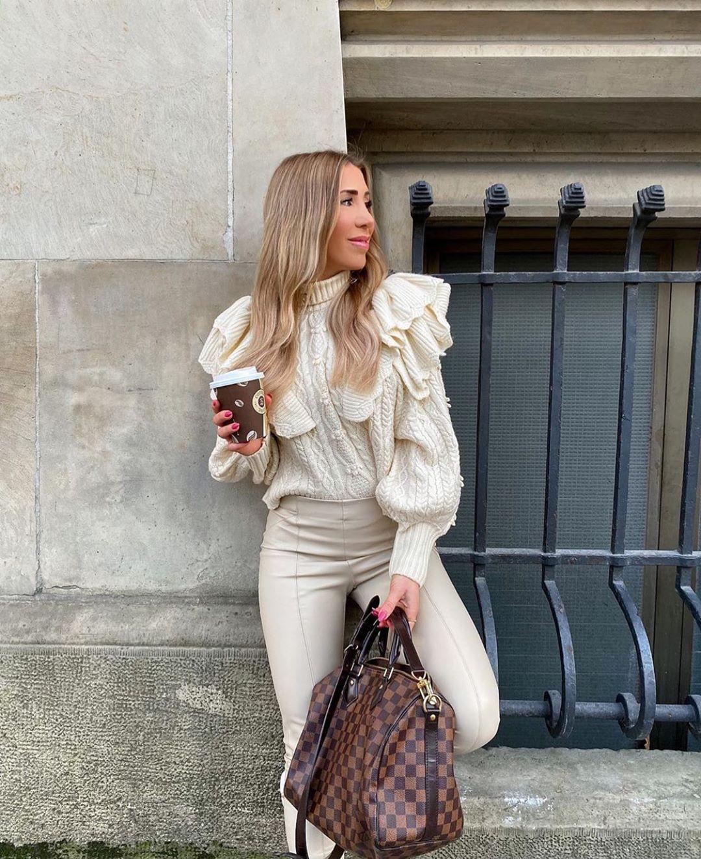 pull à torsades et volants de Zara sur zara.outfits