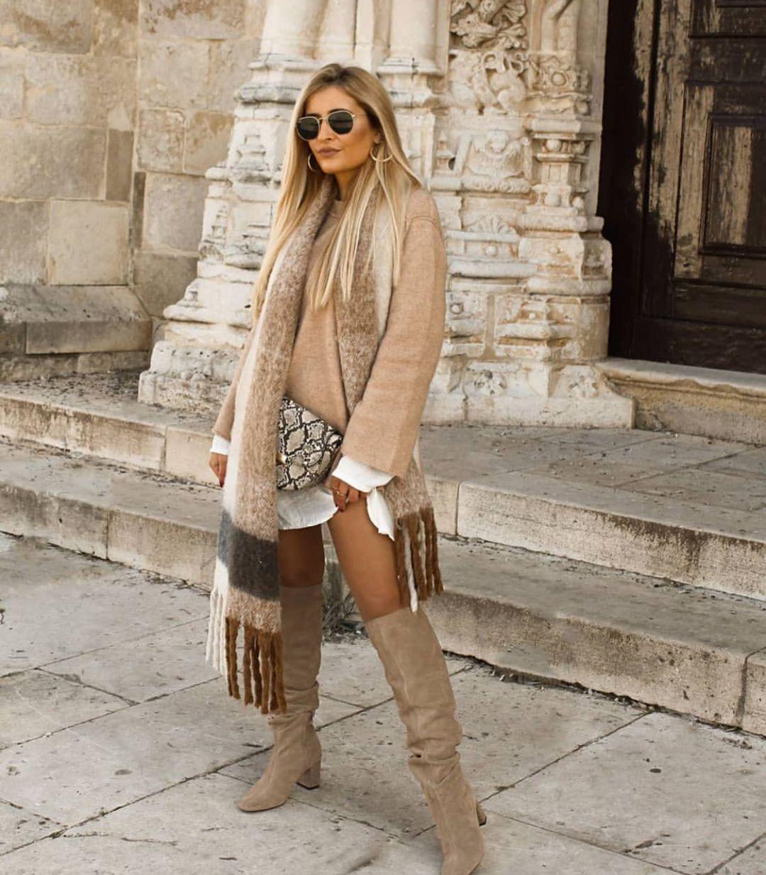 bottes à talons mi-hauts en croûte de cuir de Zara sur zara.outfits