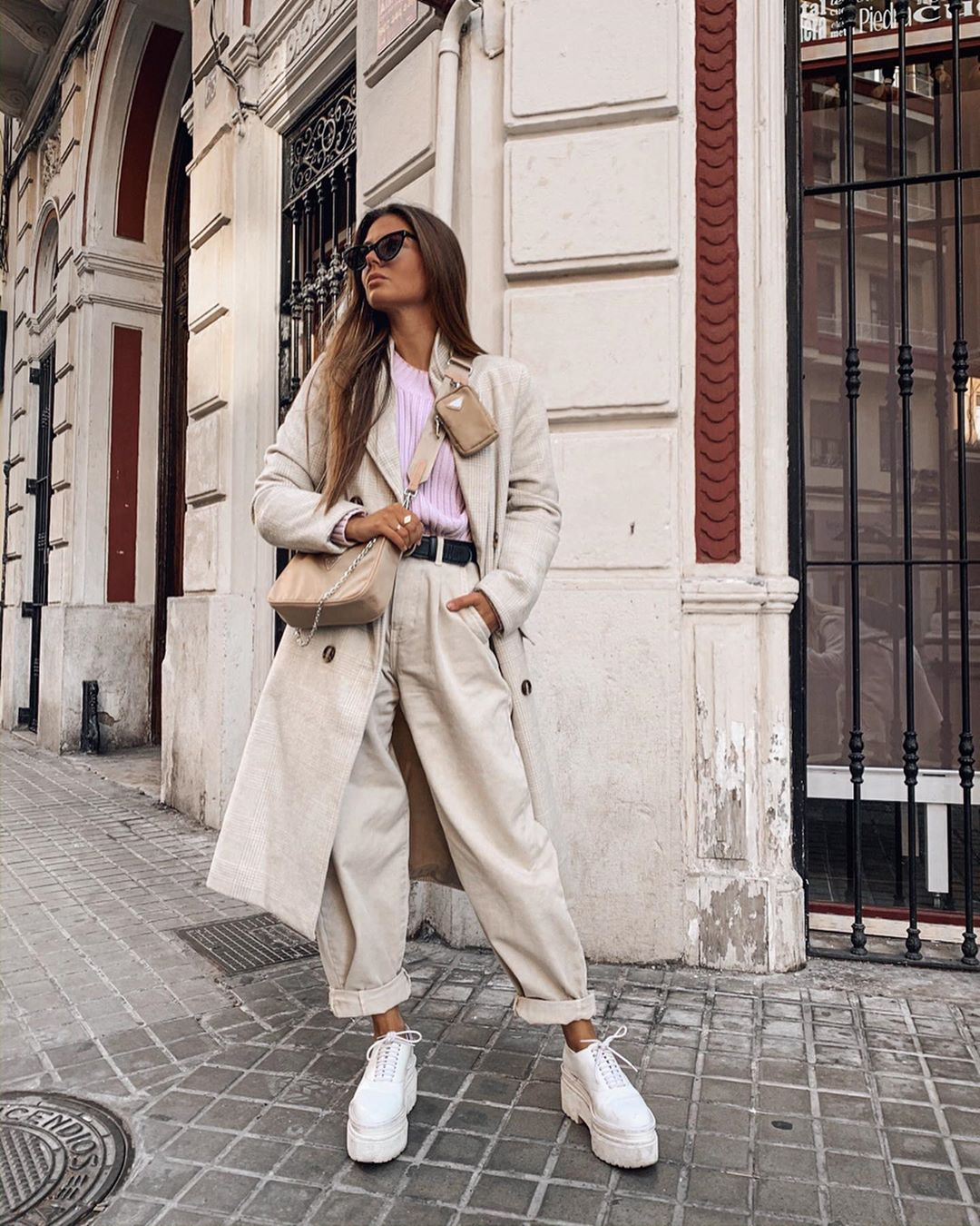 pants with lapels in the bottom de Zara sur marinamcerezo