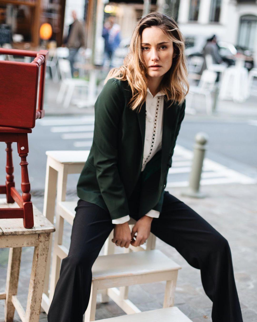 pantalon vert lili de Les Bourgeoises sur lesbourgeoisesofficiel