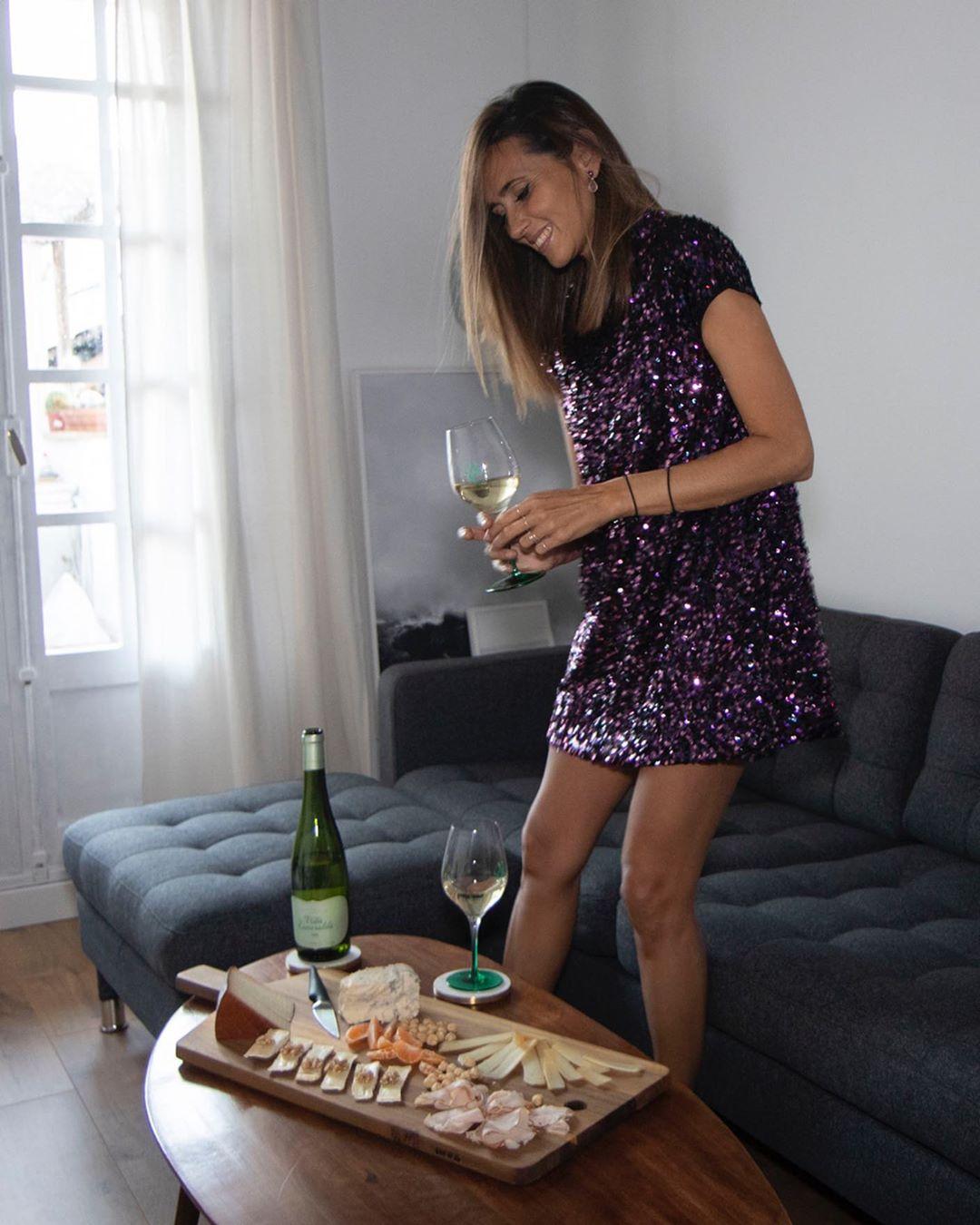 sequined dress de Zara sur coohuco