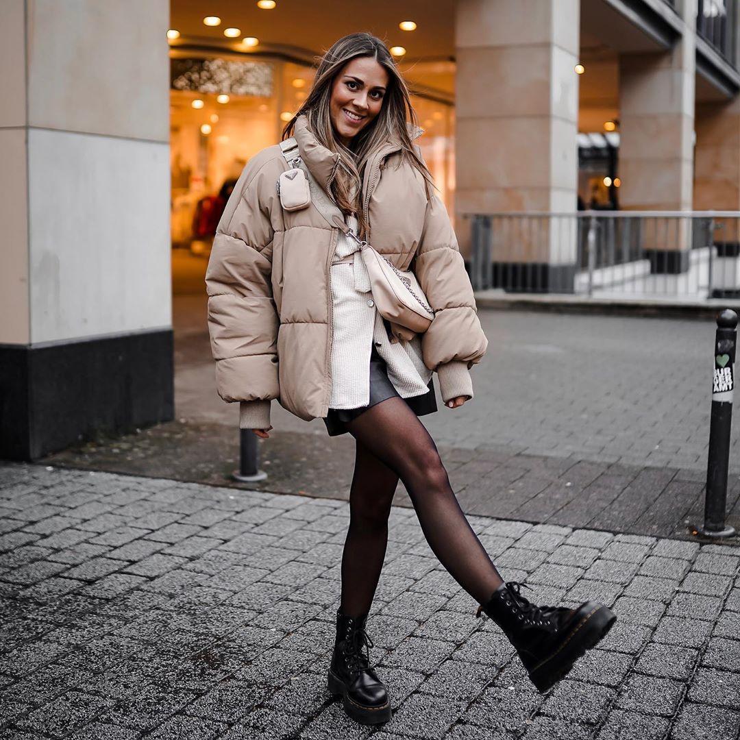 oversize padded jacket de Zara sur _dolce__deborina
