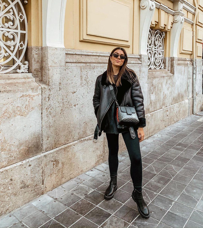 double-sided biker jacket de Zara sur amparocamo