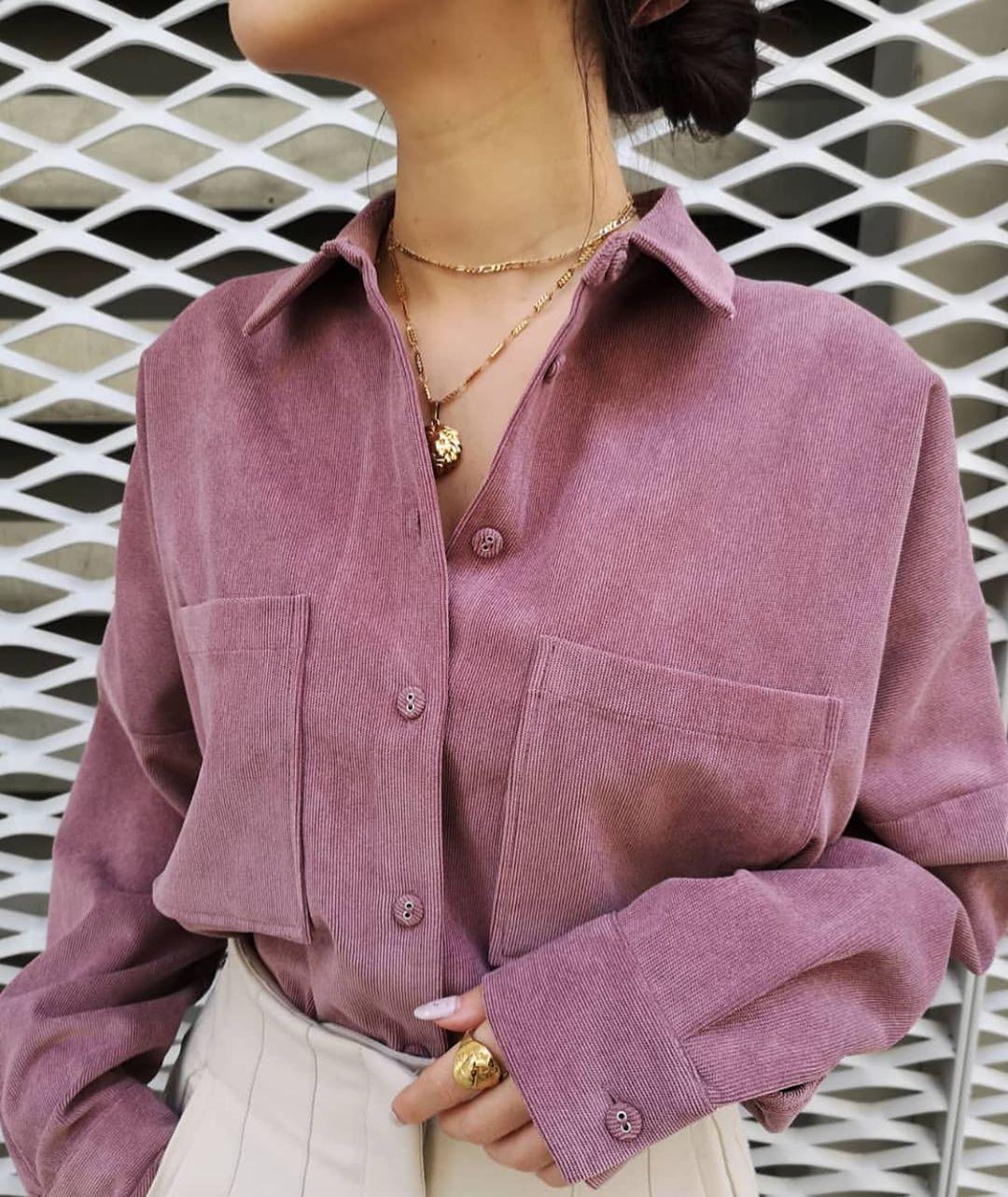 chemise en velours côtelé à poches de Zara sur zara.outfits