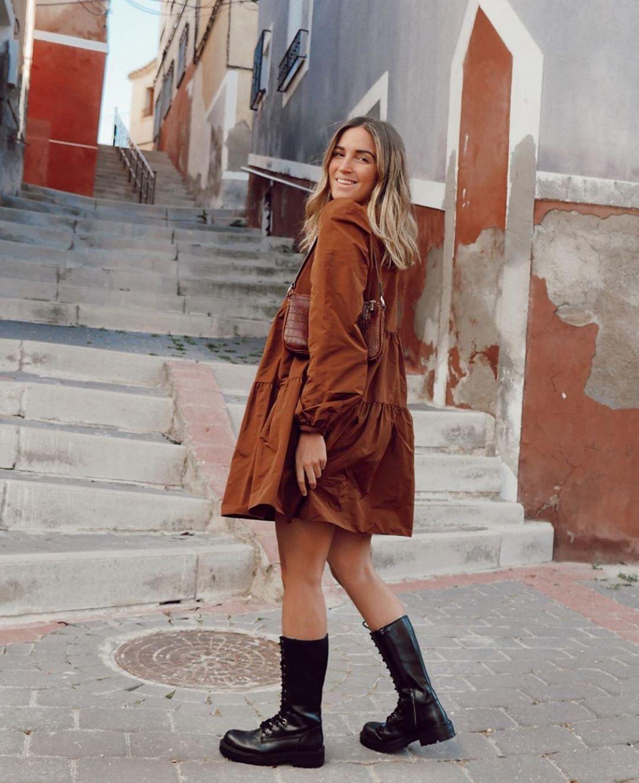 robe ample en taffetas de Zara sur zara.outfits