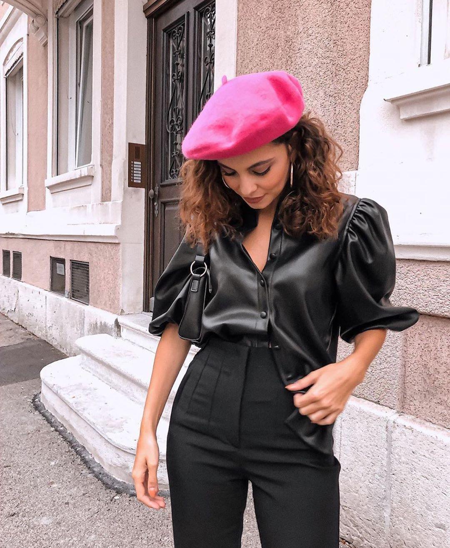 chemise en cuir synthétique de Zara sur zara.outfits