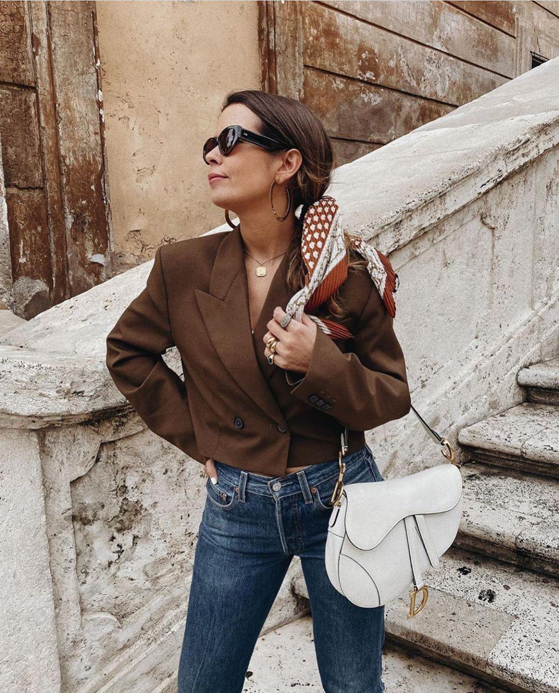 crossover breasted short jacket de Zara sur zarastreetstyle