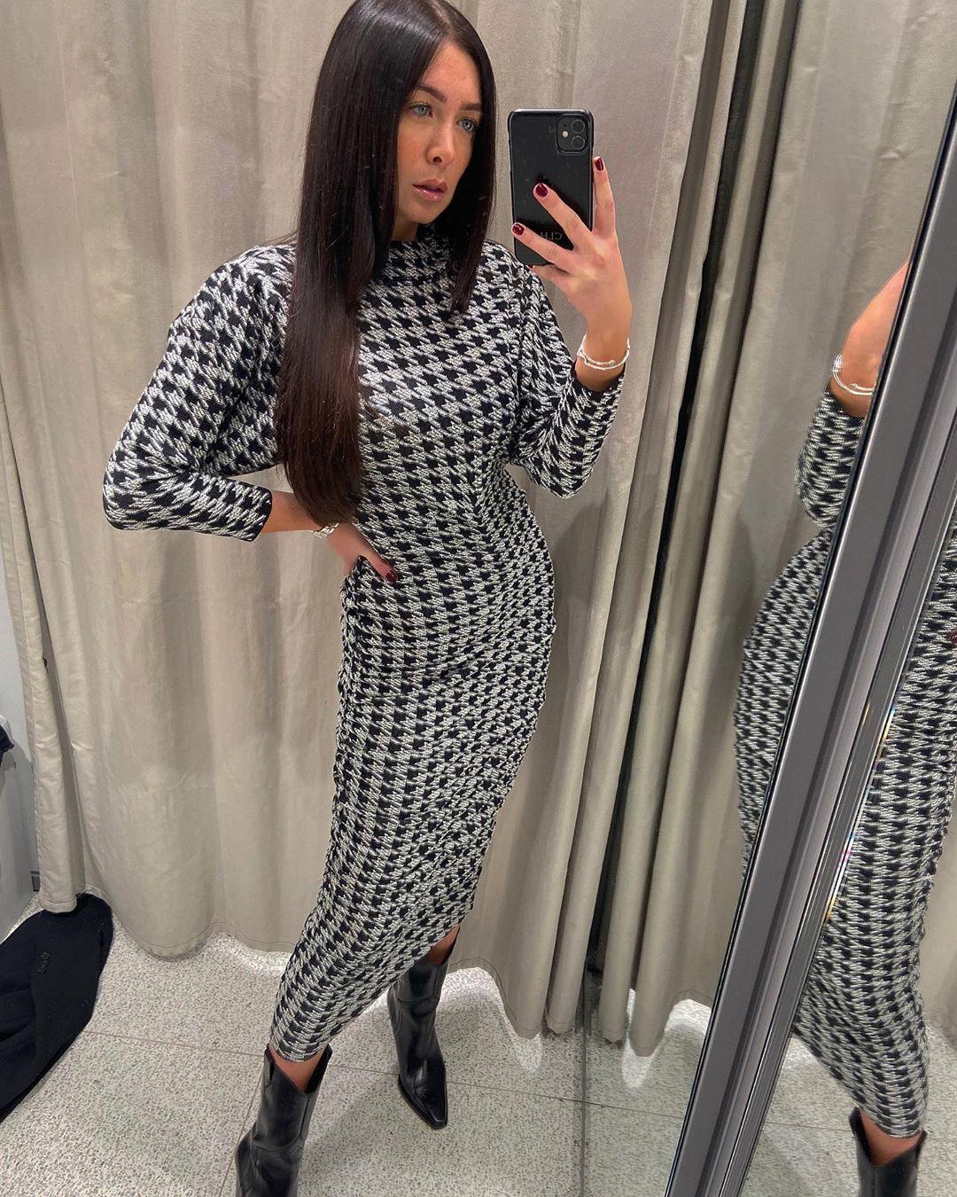 draped jacquard dress de Zara sur courtbyafeather