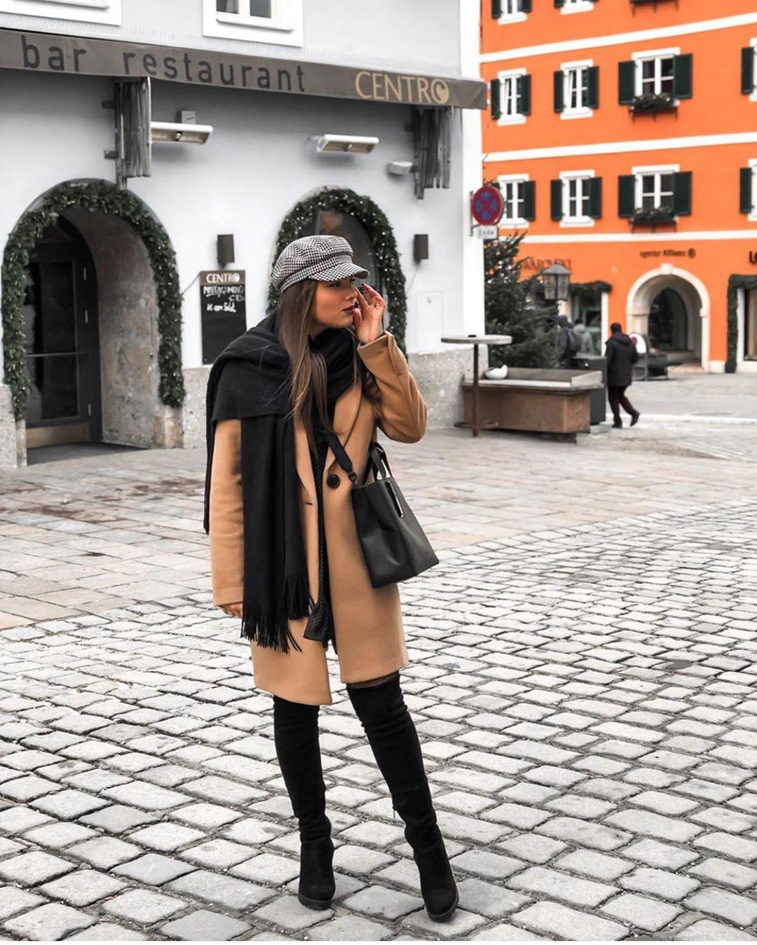 casquette style marin à carreaux de Zara sur zara.outfits