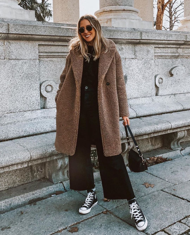 manteau effet mouton de Zara sur zara.outfits
