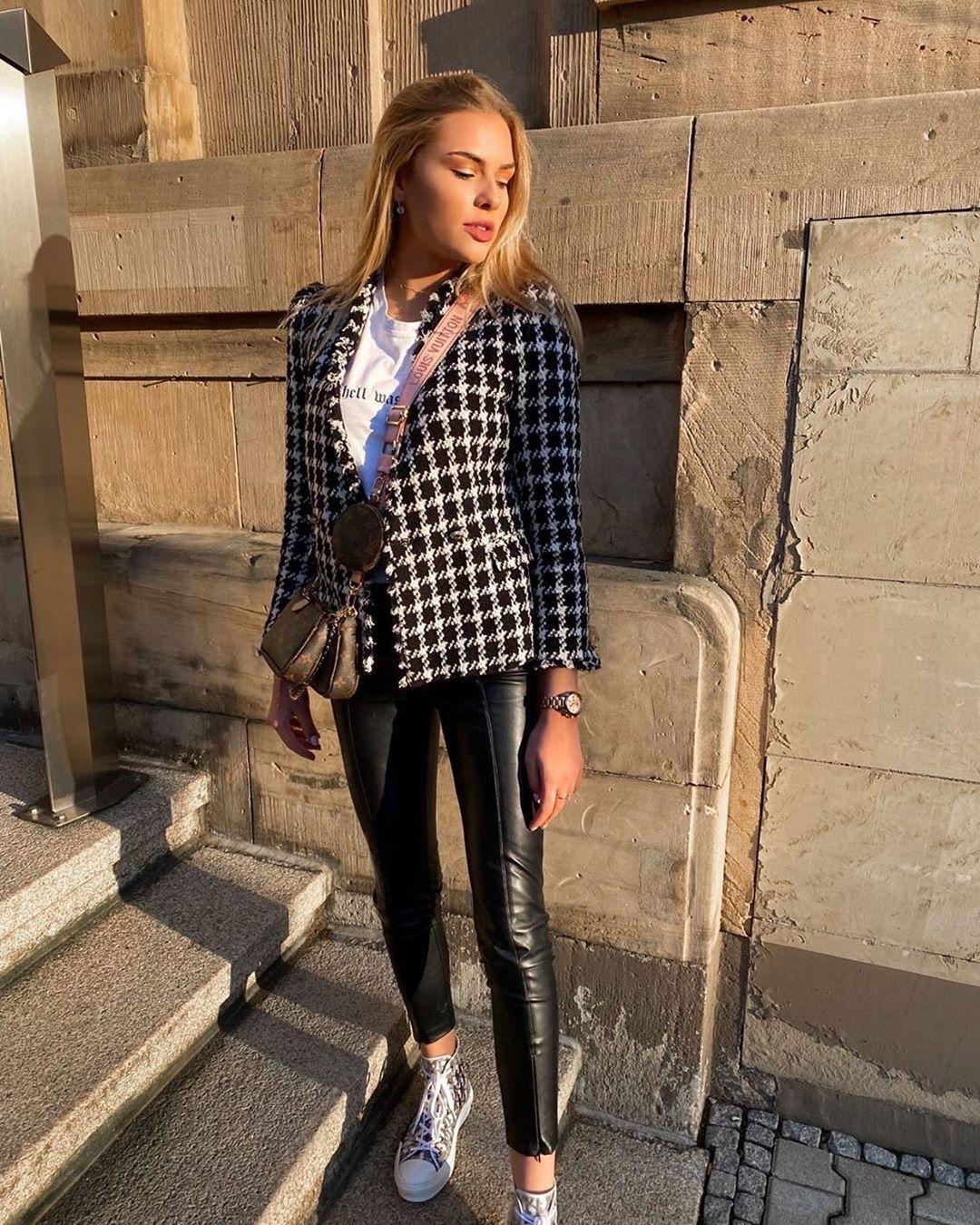 veste en tweed de Zara sur zara_streets