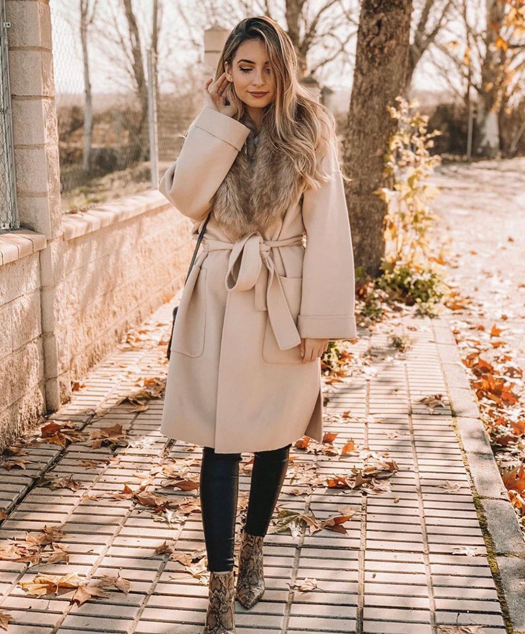 manteau à col effet fourrure de Zara sur zara.outfits