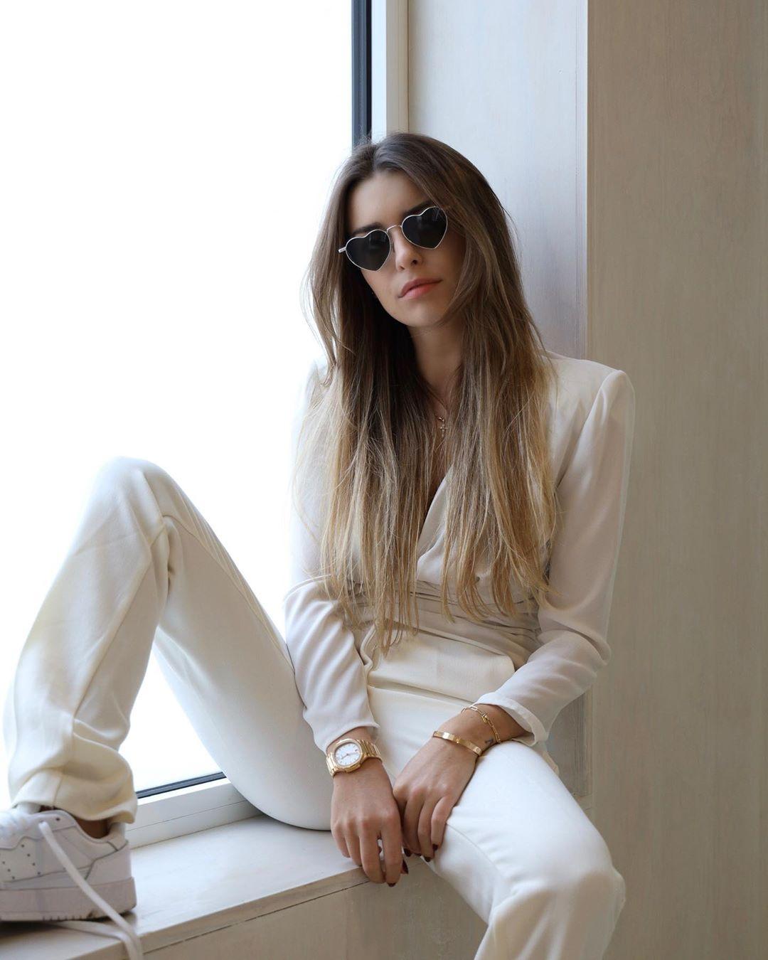 buttoned hem pants de Zara sur florenceolette