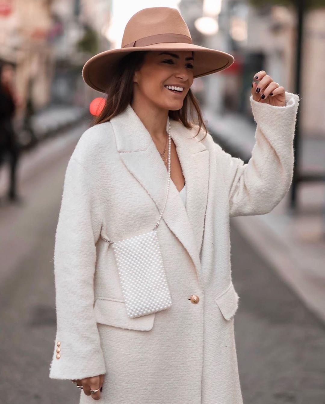 chapeau à bord large de Zara sur zara.outfits