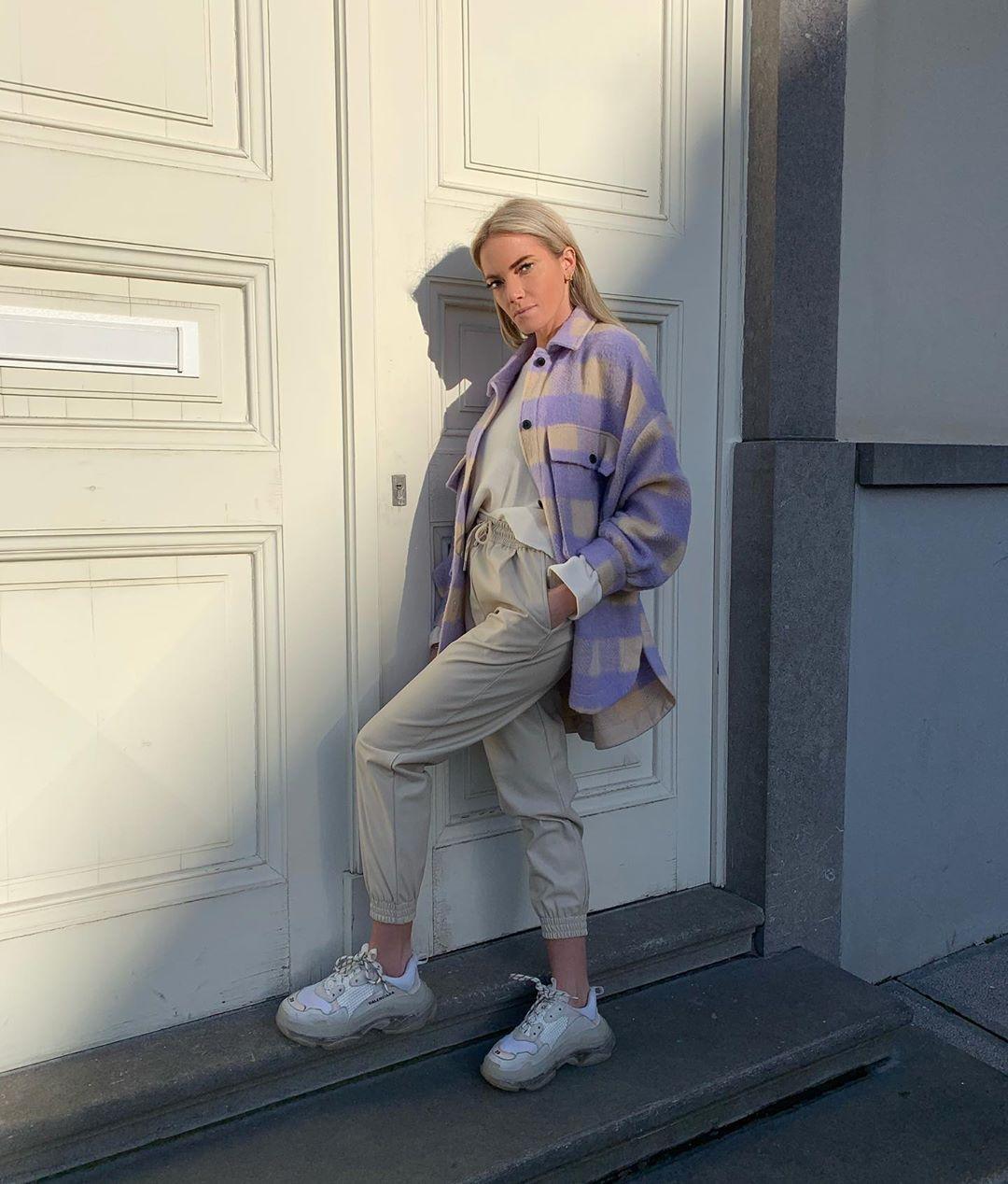 surchemise oversize à carreaux de Zara sur mandisfashionworld