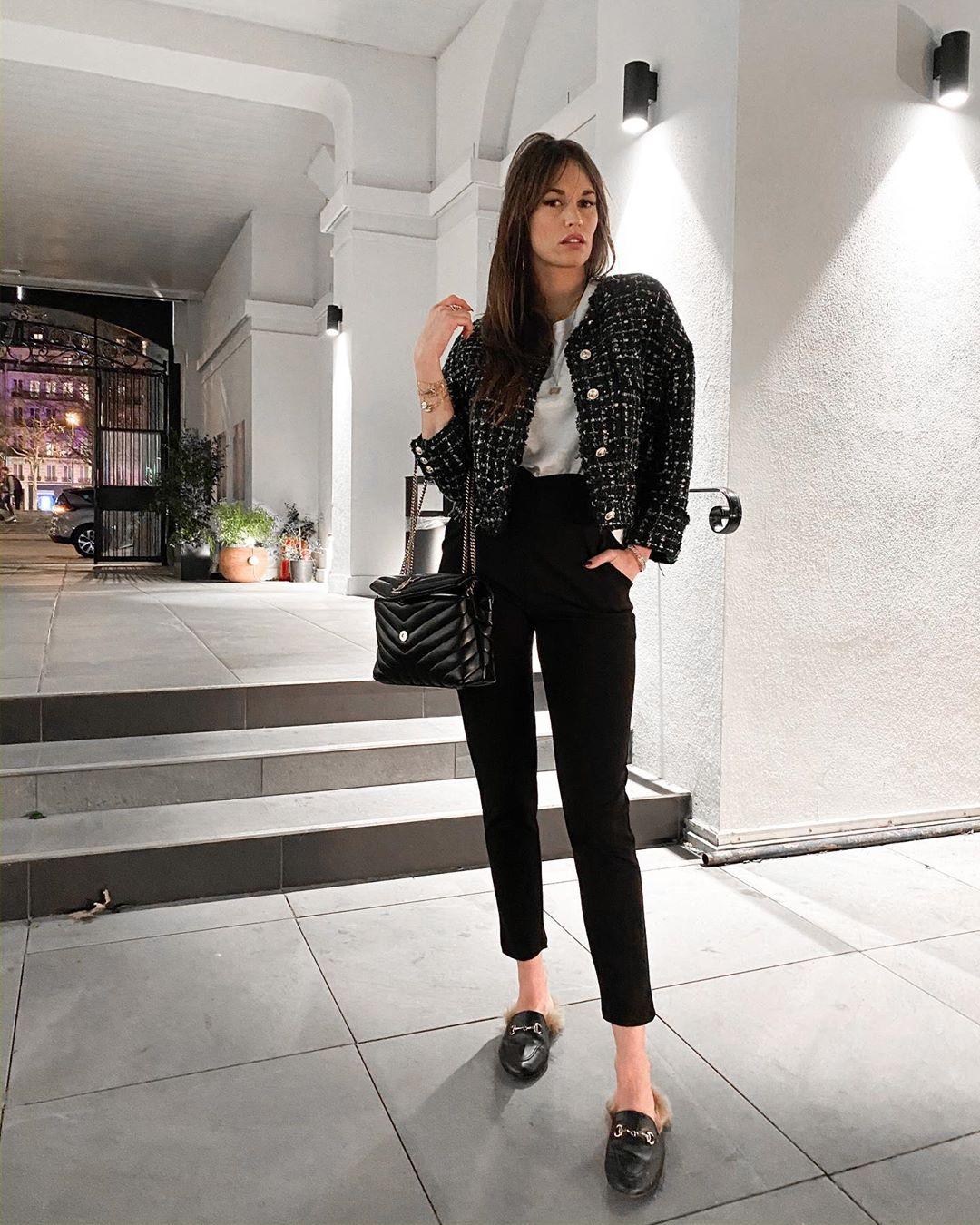 veste en tweed à boutons de Zara sur alisontoby