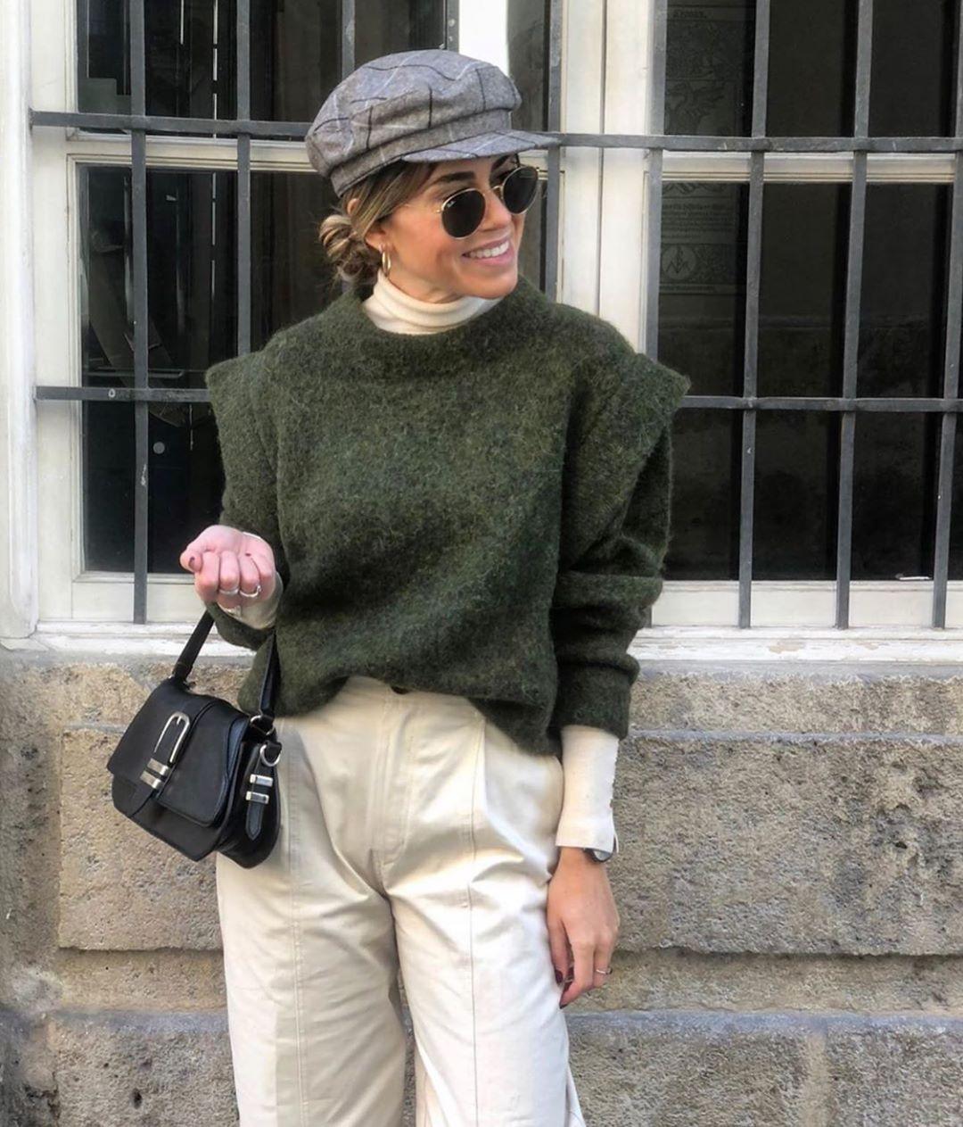casquette style marin à carreaux et chevrons de Zara sur zara.outfits