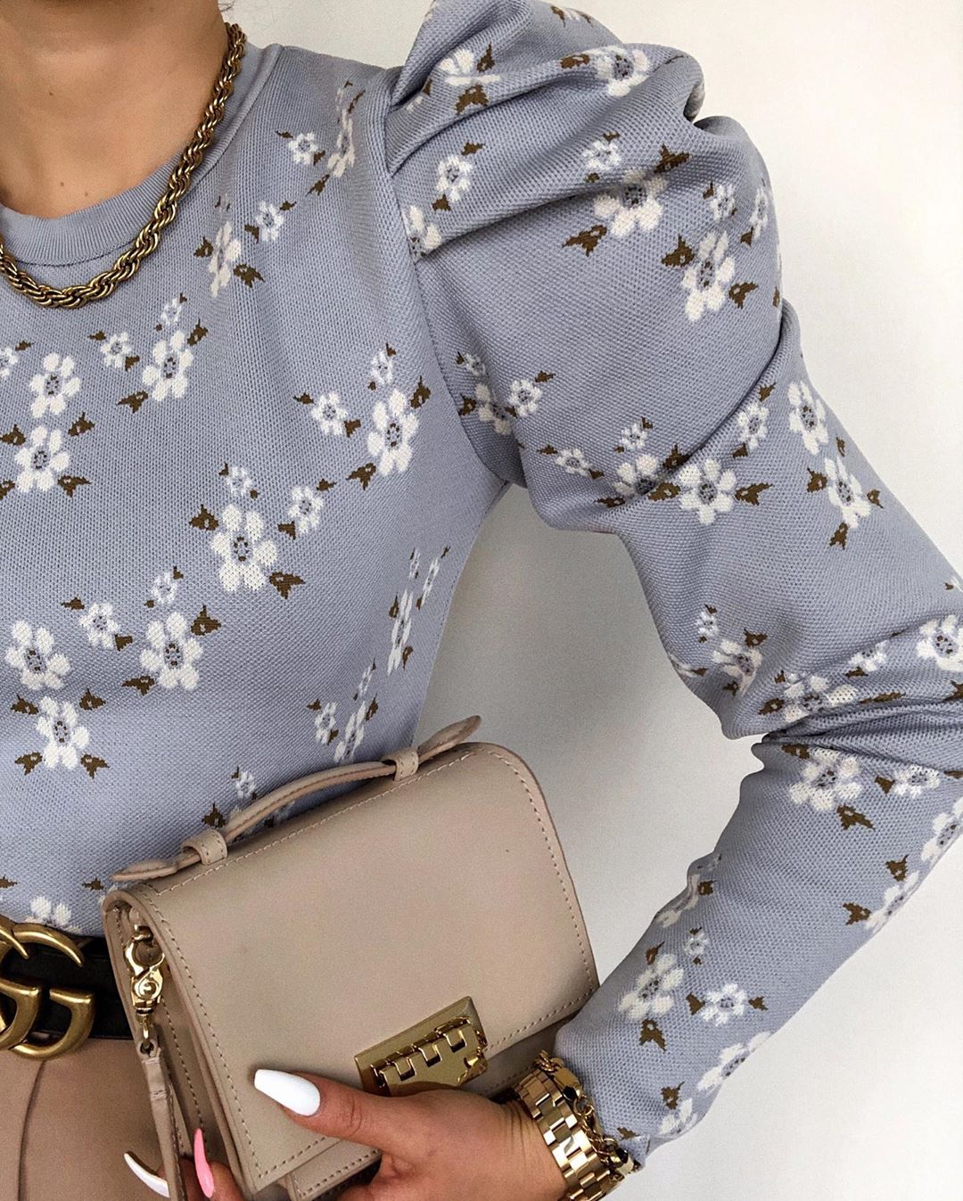 floral knit sweater de Zara sur vitaliia