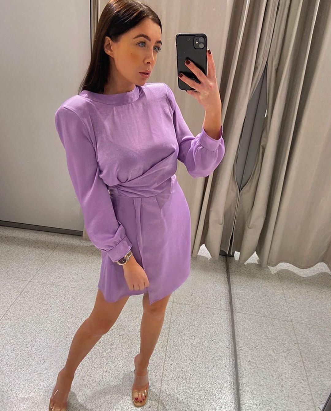 satin and draped dress de Zara sur courtbyafeather