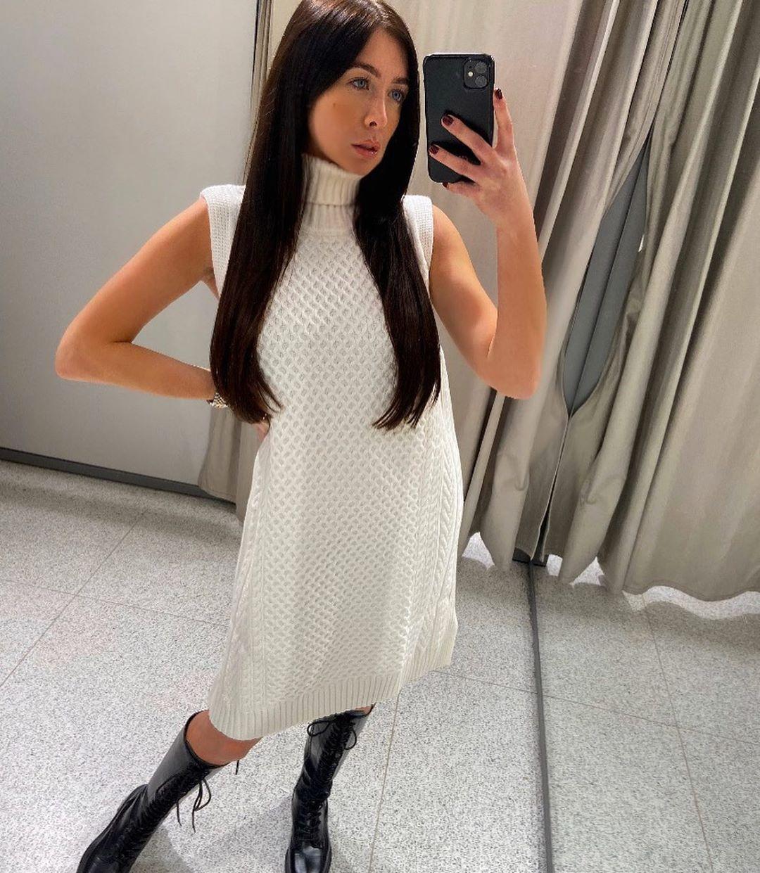 twisted knit dress de Zara sur courtbyafeather