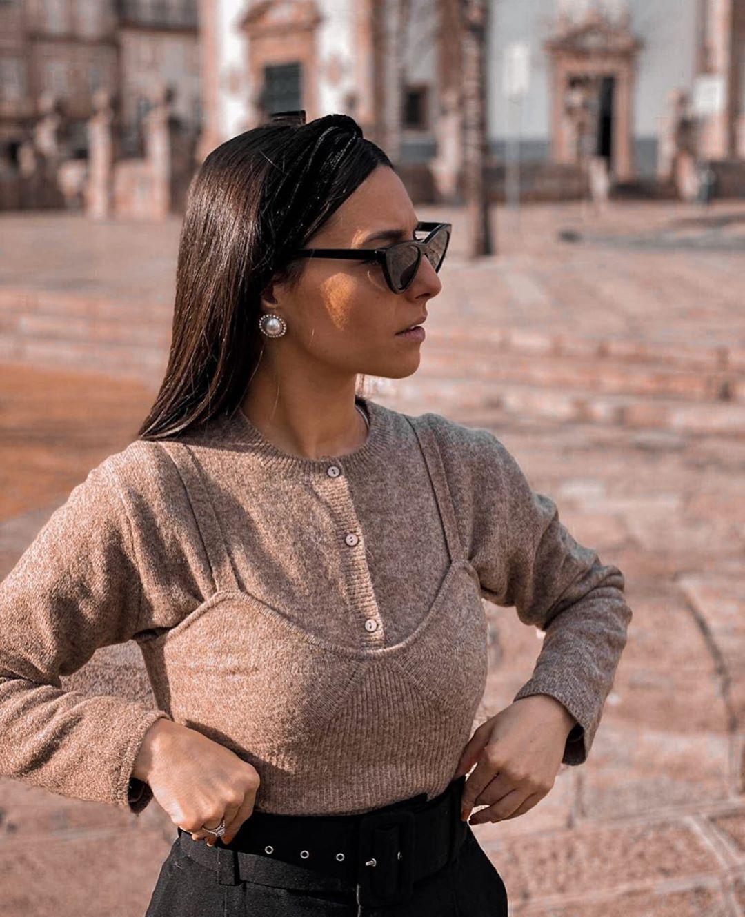 top court avec laine de Zara sur zara.outfits