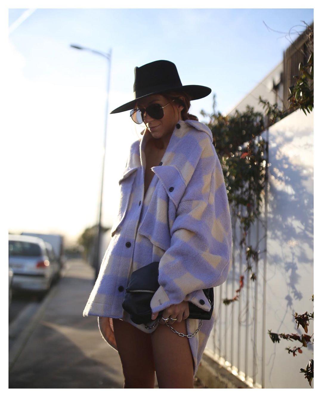 surchemise oversize à carreaux de Zara sur boho_addict