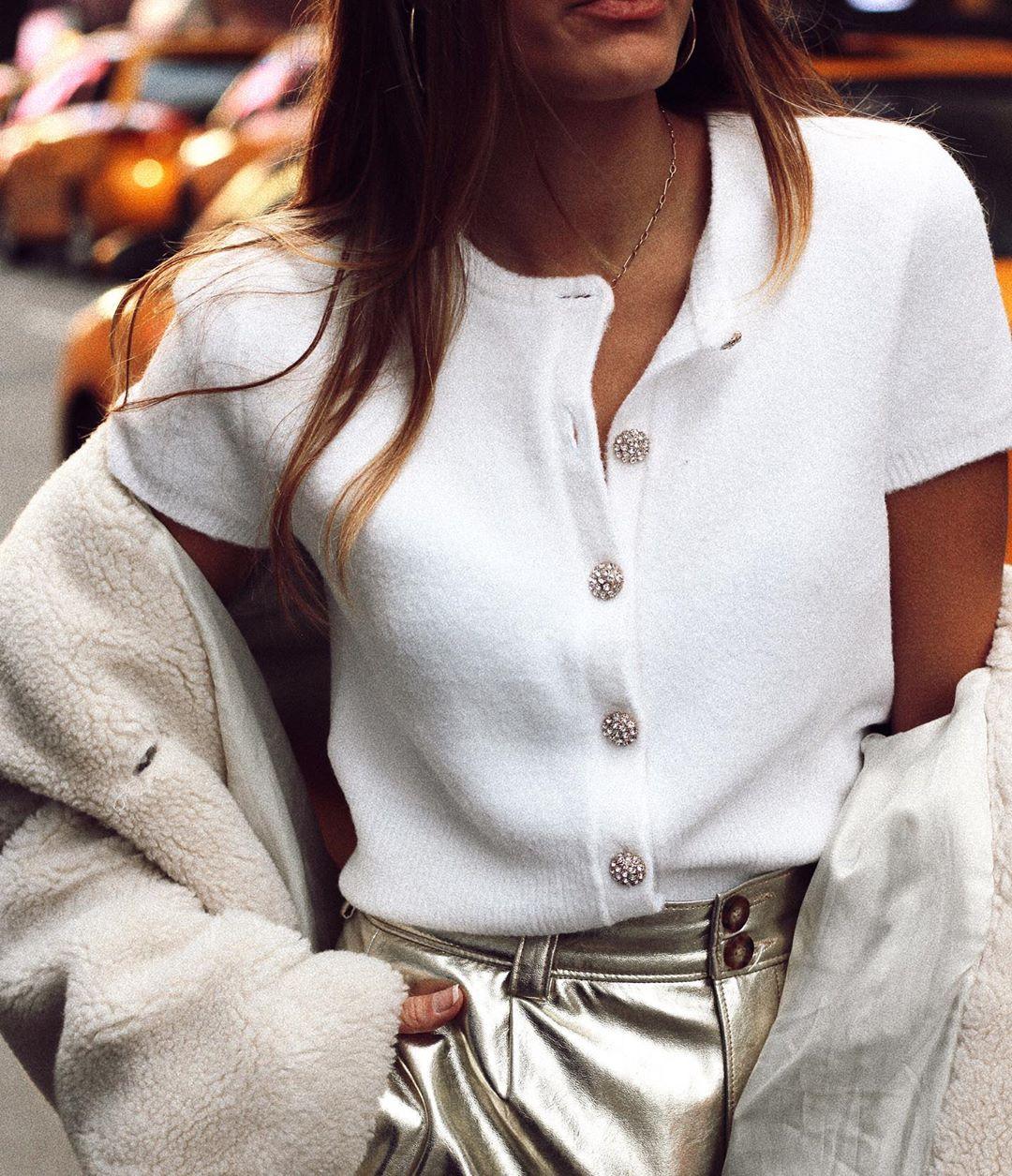 jewellery button jacket de Zara sur natichualcantara