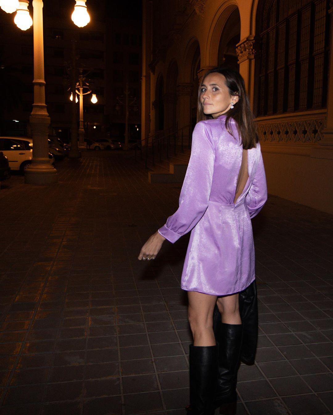 satin and draped dress de Zara sur coohuco