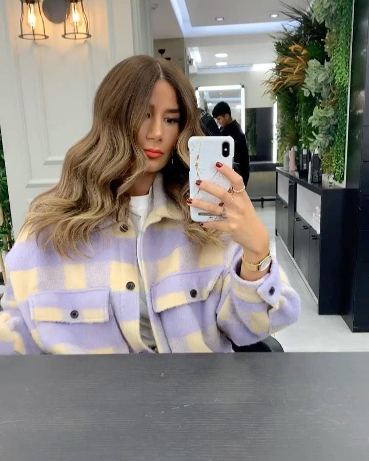 oversized checkered overshirt de Zara sur tataass_